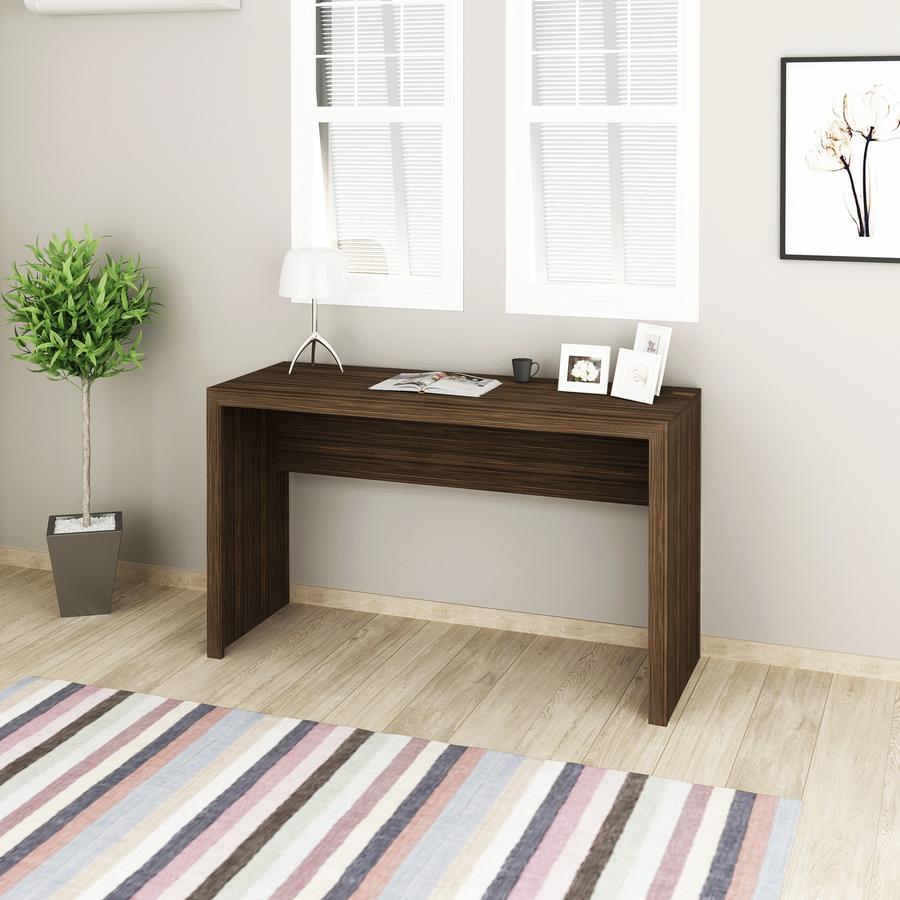 Mesa 127x46cm Escrivaninha Escritório Home Office Nogal