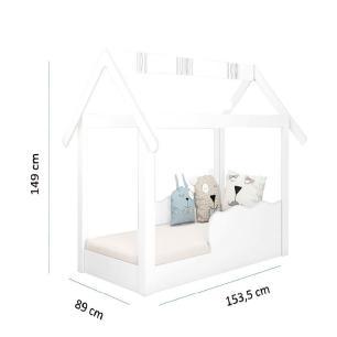Cama Mini Casinha Montessoriana Infantil Branco