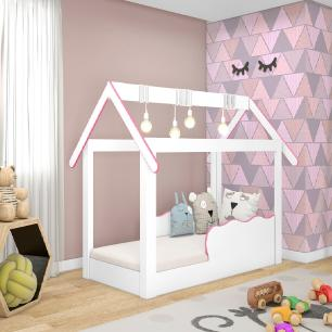 Cama Mini Casinha Montessoriana Infantil Rosa