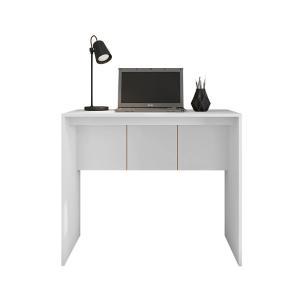 Mesa Escritório Escrivaninha Home Office 90cm Cubic Branco