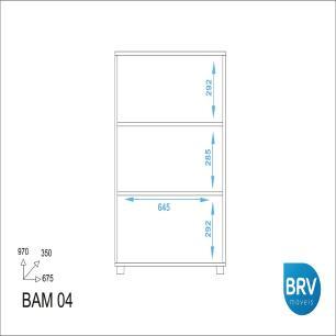 Armário Multiuso 2 Portas Office - Branco