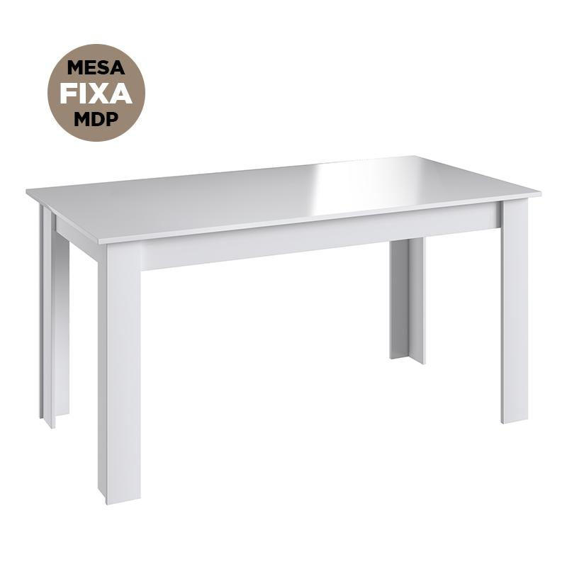 Mesa Fixa De Jantar Cozinha Multiuso 140x78cm - Branco