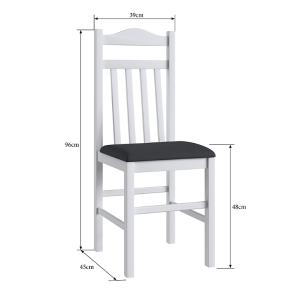Conjunto 2 Cadeiras Madeira E Tecido Corino 300 - Branco