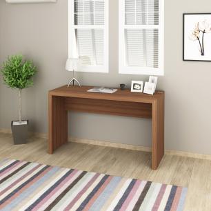Mesa 127x46cm Escrivaninha Escritório Home Office Amêndoa