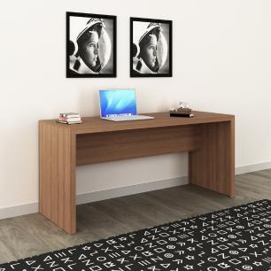 Mesa Reta Escrivaninha Escritório Home Office 163cm Amêndoa