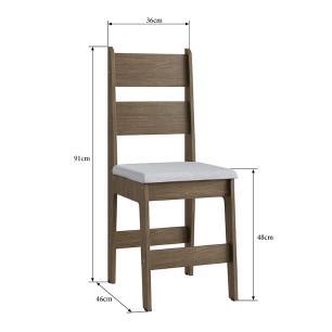 Conjunto 2 Cadeiras Em Mdf Tecido Corino 903 - Ameixa Negra