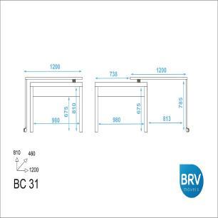 Mesa escrivaninha Para Computador Bc 31 - Branco