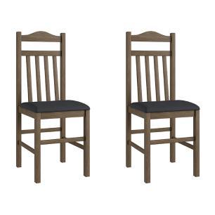 Conjunto 2 Cadeiras Madeira Tecido Corino 300 - Ameixa Negra