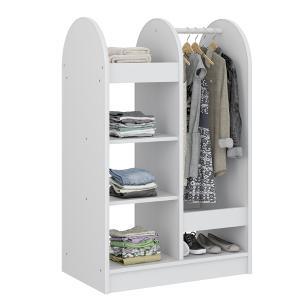 Mini Closet Para Quarto Infantil Com 6 Prateleiras - Branco