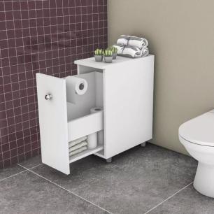 Armário Para Banheiro Com 1 Gavetão Branco