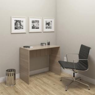 Mesa Escrivaninha Escritório Home Office Marrom Montana