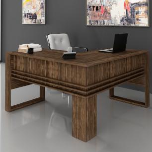 Mesa em L Escrivaninha Home Office Tecno Nogal