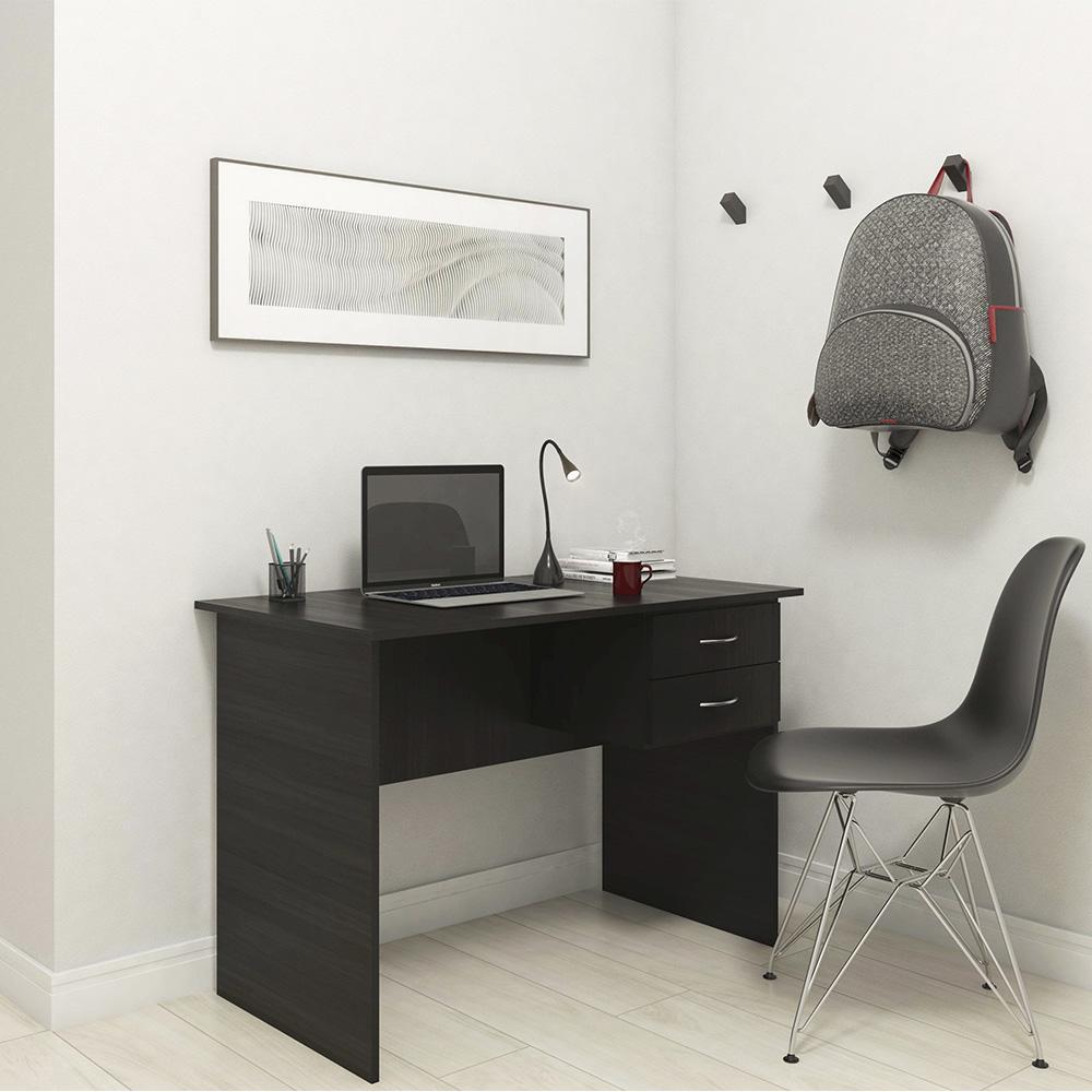 Mesa Escrivaninha Escritório Home Office 2 Gavetas Preto