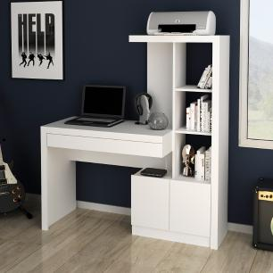 Mesa escrivaninha Estante Home Office 2 portas 1 Gaveta