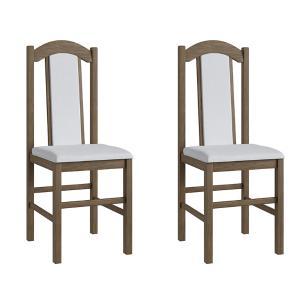Conjunto 2 Cadeiras Madeira Tecido Corino 500 - Ameixa Negra
