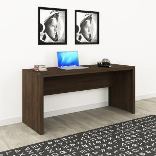Mesa Reta Escrivaninha Escritório Home Office 163cm Rústico