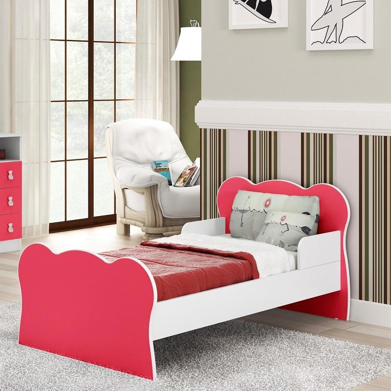 Mini cama Infantil Quarto Solteiro MC 070 Rosa