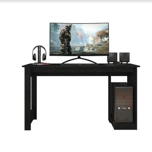 Mesa Gamer Escrivaninha Home Office Caemmun Preto