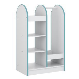 Mini Closet Para Quarto Infantil 6 Prateleiras - Branco/azul