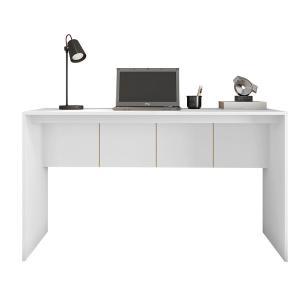 Mesa Escritório Escrivaninha Home Office 136cm Cubic Branco