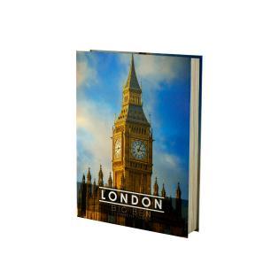 Caixa Livro Papel RÍgido London 36X27X5Cm