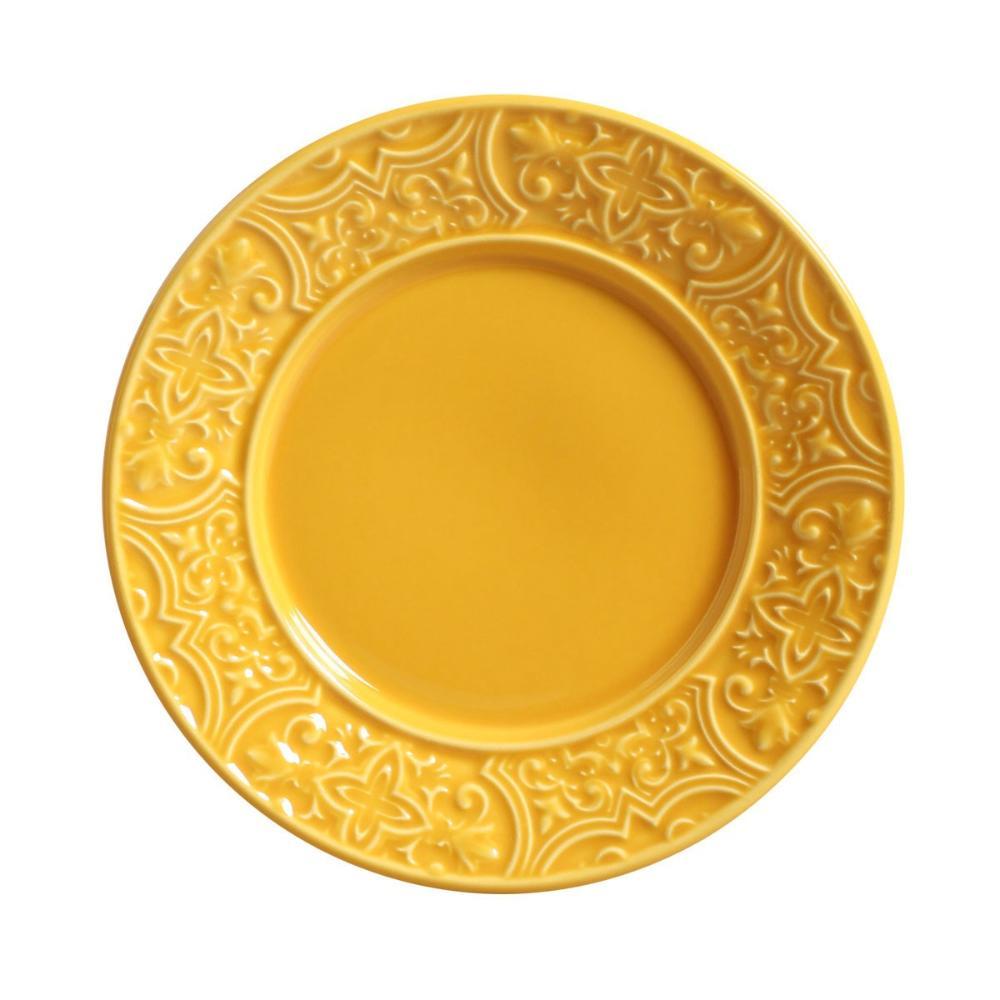 Conjunto com 6 Pratos de Sobremesa Porto Mostarda 20,5 cm