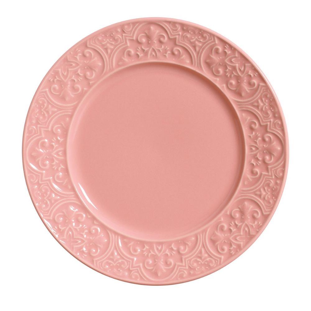 Conjunto com 6 Pratos Raso Porto Rosa 26cm