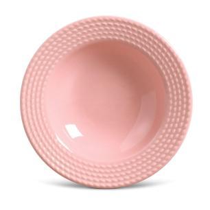Conjunto com 6 Pratos Fundo Olímpia Rosa 22cm