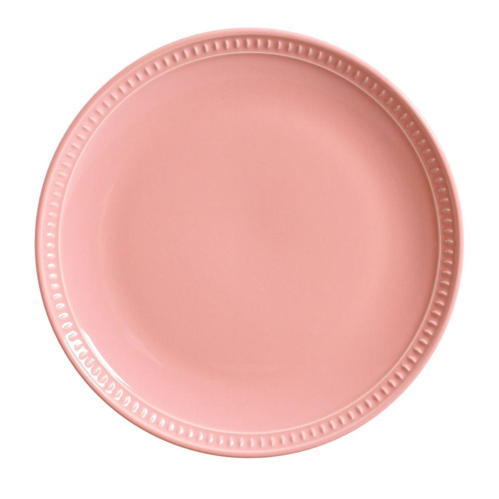 Conjunto com 6 Pratos Raso Sevilha Rosa 27,5cm