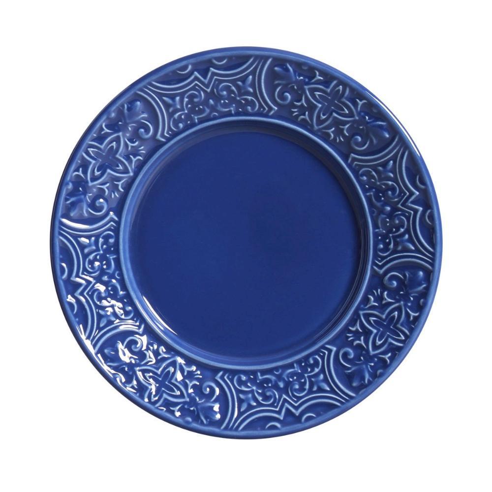 Conjunto com 6 Pratos de Sobremesa Porto Azul Navy 20,5 cm