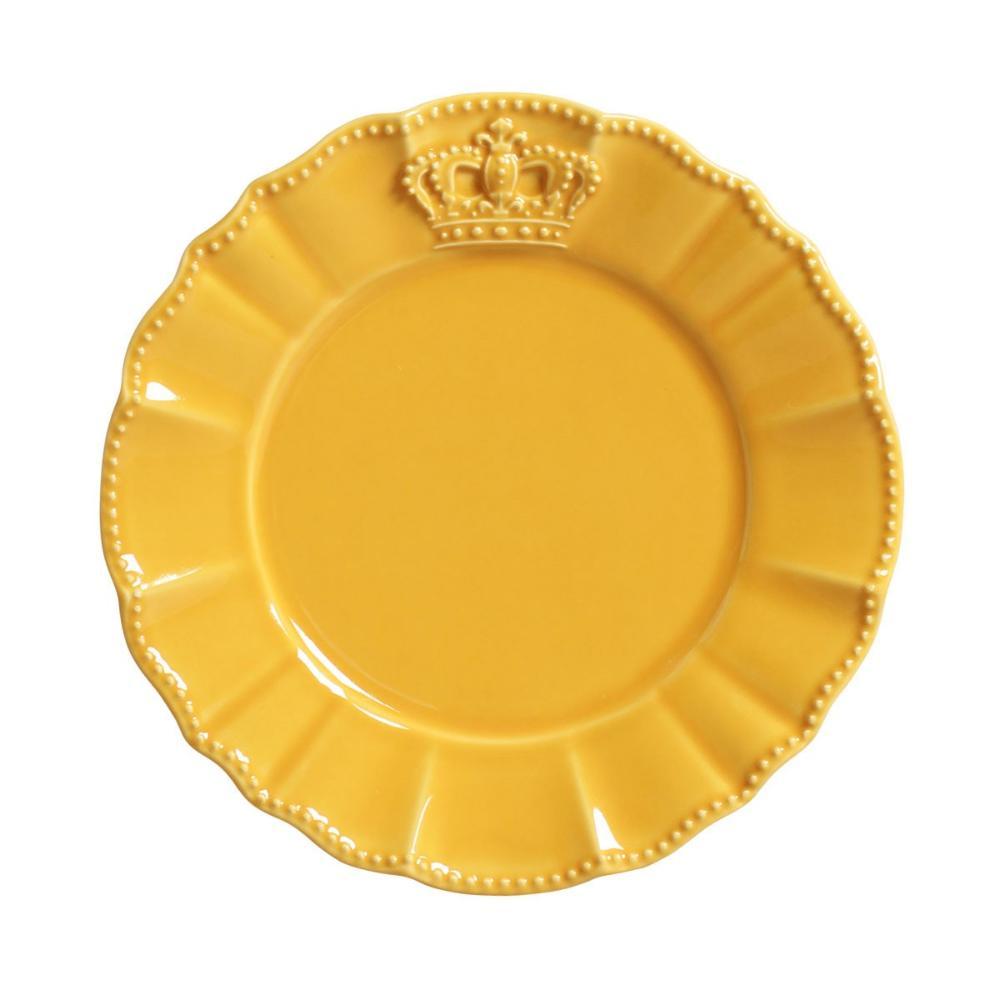 Conjunto com 6 Pratos de Sobremesa Windsor Mostarda 20,5 cm