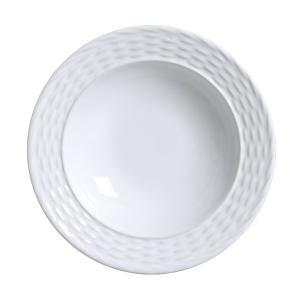 Conjunto com 6 Pratos Fundo Bali Branco 22cm