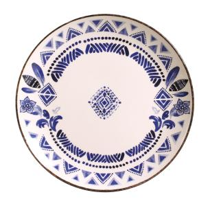 CONJUNTO C/ 6 PRATOS RASO COUP NAVAJO BLUE Ø 27,5cm