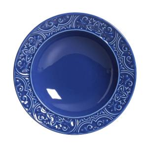 Conjunto com 6 Pratos Fundo Porto Azul Navy 22cm