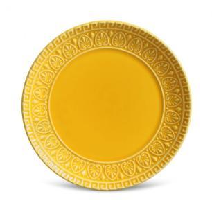 Conjunto com 6 Pratos de Sobremesa Greek Mostarda 20 cm