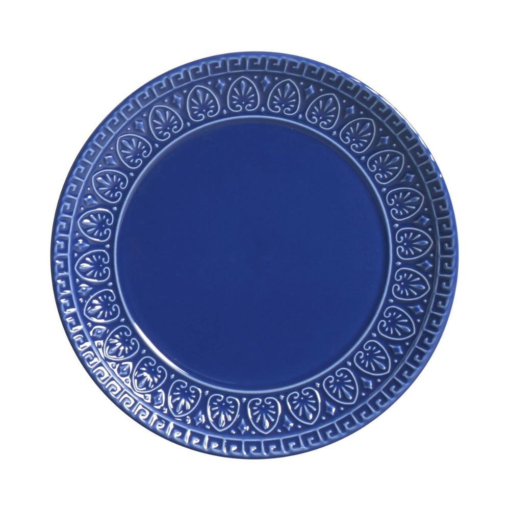 Conjunto com 6 Pratos de Sobremesa Greek Azul Navy 20 cm