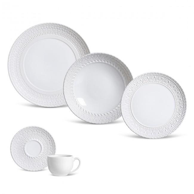 Aparelho de Jantar Greek Branco 30 Peças