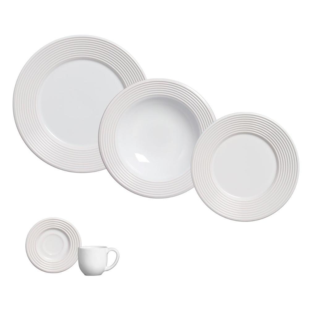 Aparelho de Jantar 20 Peças Argos Branco