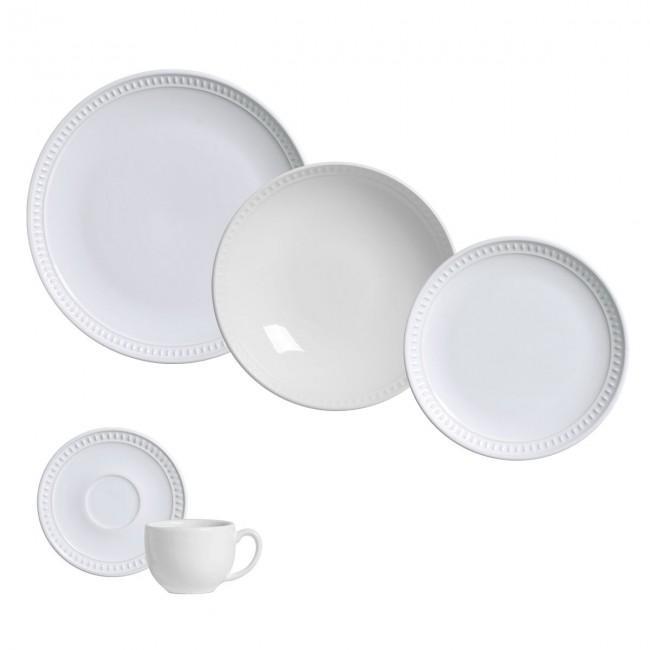 Aparelho de Jantar 20 Peças Sevilha Branco