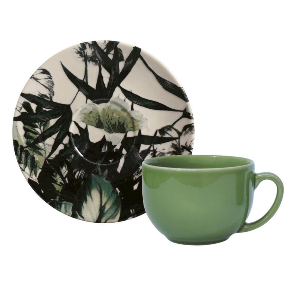 Conjunto com 6 Xícaras de Chá com 6 Pires Coup Floresta Negra 198 ml