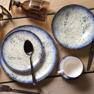 CONJUNTO C/ 6 XÍCARAS DE CHÁ C/ 6 PIRES COUP COSMIC BLUE 260 ml