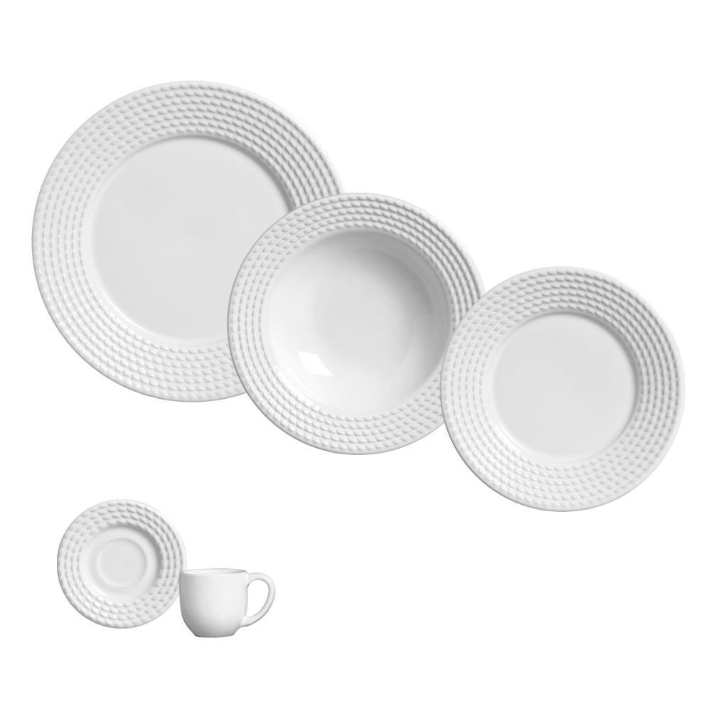 Aparelho de Jantar 20 Peças Olímpia Branco