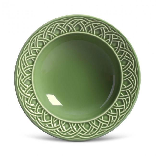 Conjunto com 6 Pratos Fundo Cestino Verde Sálvia 22cm