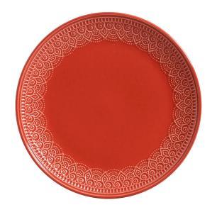 Conjunto com 6 Pratos Raso Agra Vermelho 27,5cm
