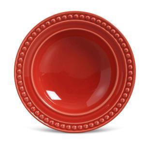 Conjunto com 6 Pratos Fundo Atenas Vermelho 22cm