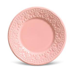 CONJUNTO C/ 6 PRATOS DE SOBREMESA MADELEINE ROSA Ø 20,5 cm