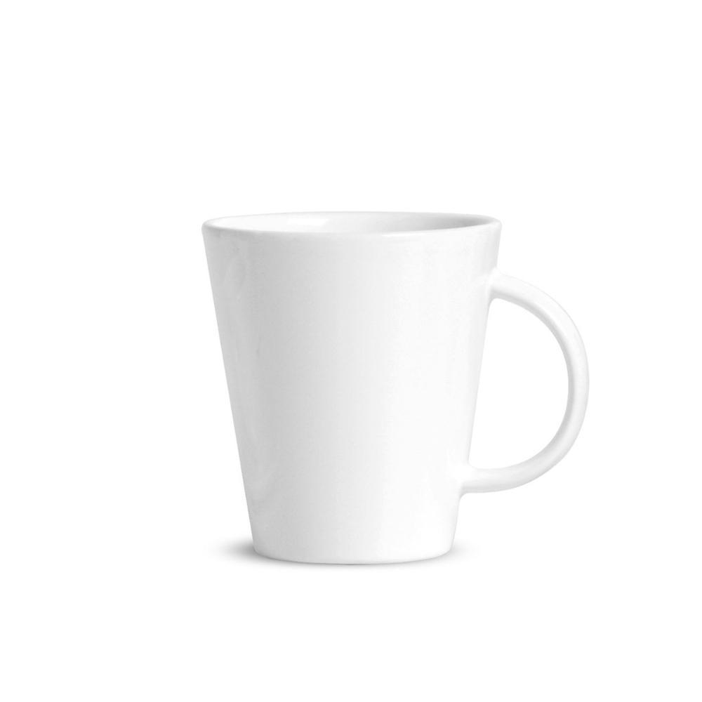Conjunto com 4 Canecas Basic Branco 208 ml
