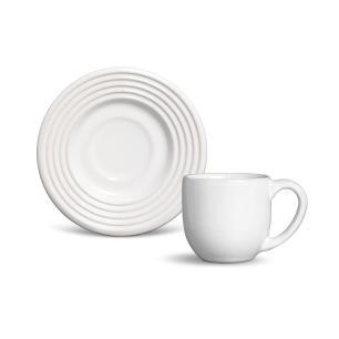Conjunto com 6 Xícaras de Café com Pires Argos Branco 72 ml