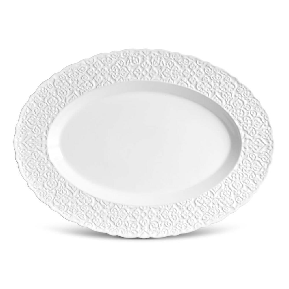 Travessa Marrakech Grande Branco 52 x 38 cm
