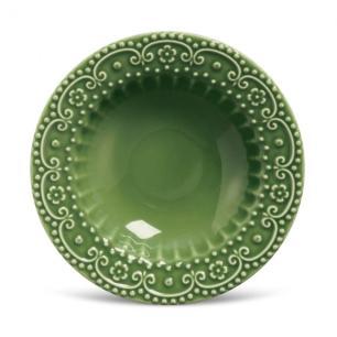 Conjunto com 6 Pratos Fundo Esparta Verde Sálvia 22cm